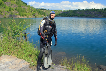 Затопленный карьер под Новокузнецком