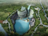 В глубоком карьере близ Шанхая построят отель